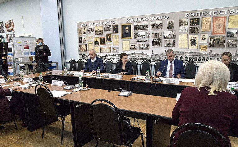 А. Артамонов обсудил спредпринимателями Калужской области методы воздействия накомпании с«серыми» зарплатами