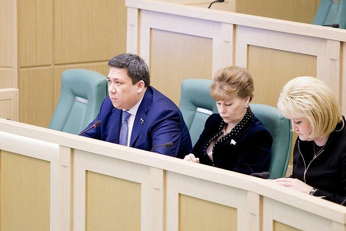 В. Полетаев 371-е заседание Совета Федерации