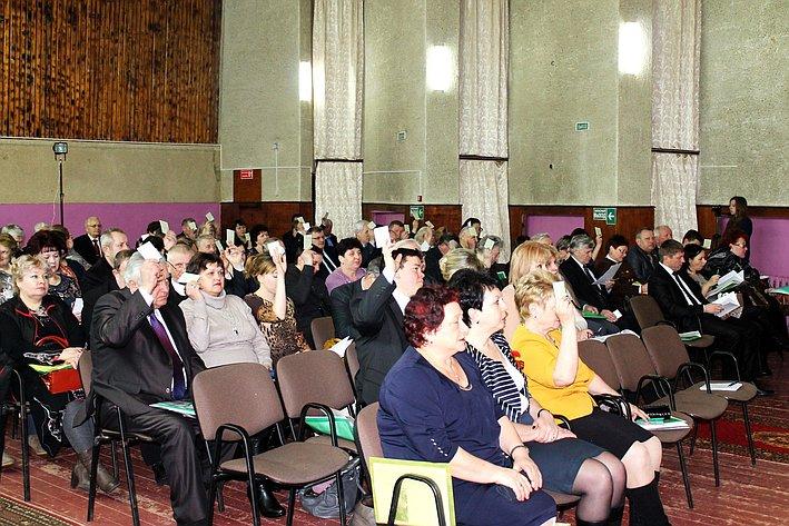 И. Кулабухов приветствовал участников VІI Белгородской областной отчетно-выборной конференции профсоюза работников АПК