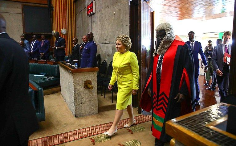 Председатель Совета Федерации В. Матвиенко приняла участие взаседании Национальной ассамблеи Республики Замбии