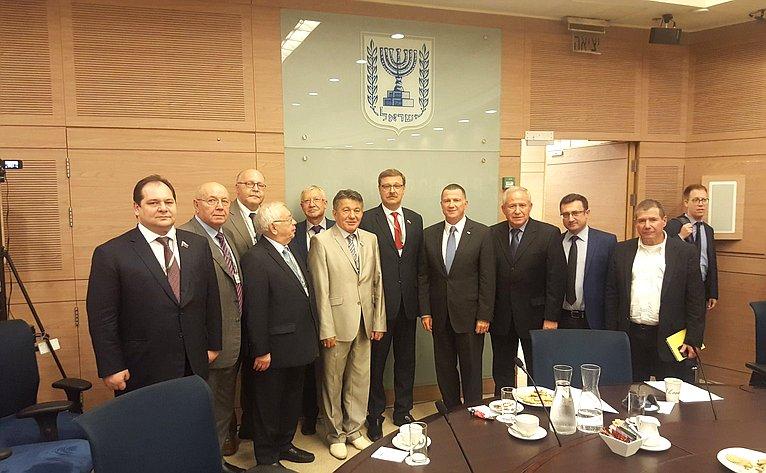 Визит делегации СФ вИзраиль