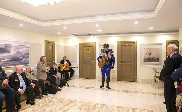 Открытие вСовете Федерации выставки «Начреде высокой», посвященной творчеству поэта В.Жуковского