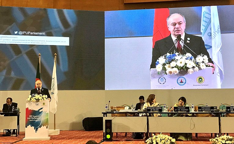 Ильяс Умаханов выступил на136-й Ассамблее Межпарламентского союза