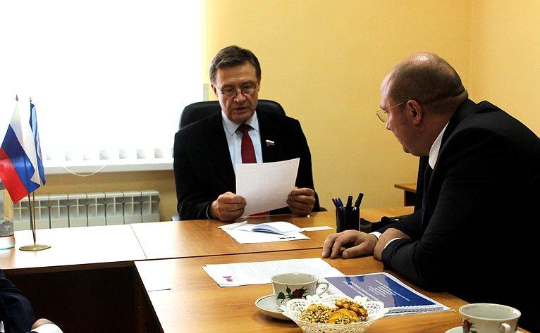 Сергей Рябухин провел прием граждан вгороде Димитровграде Ульяновской области