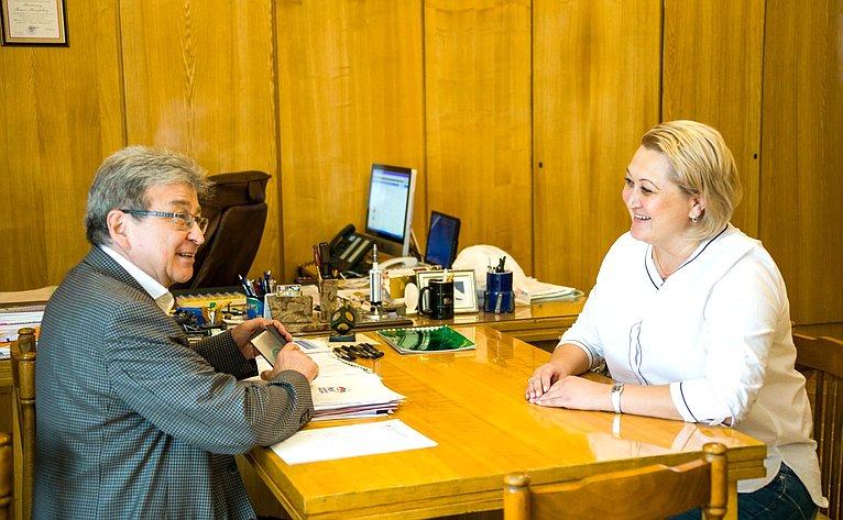 Лилия Гумерова посетила Уфимский государственный нефтяной технический университет