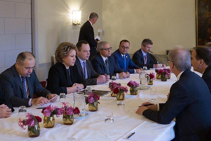 Встреча В. Матвиенко с Левеном 3