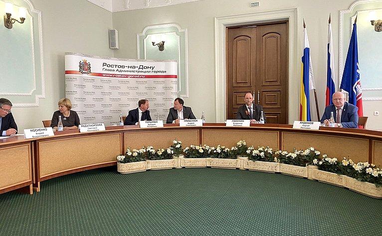 Владимир Лакунин принял участие вовстрече губернатора Ростовской области Василия Голубева срегиональным бизнес-сообществом