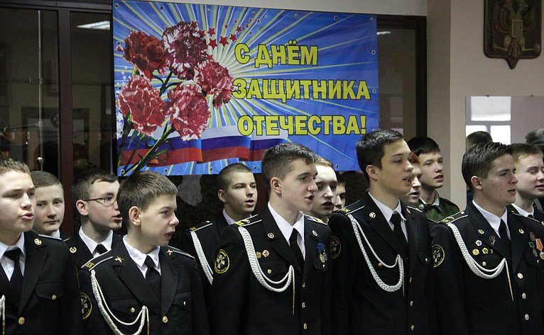 Александр Ракитин посетил Карельский кадетский корпус им. А. Невского