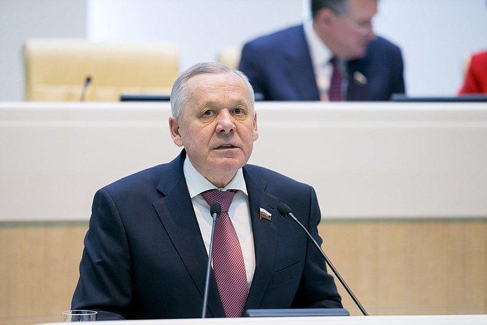 В. Шуба на385-м заседании Совета Федерации