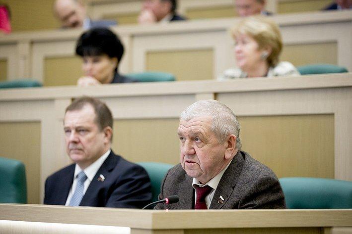 В. Федоров и С. Катанандов 371-е заседание Совета Федерации