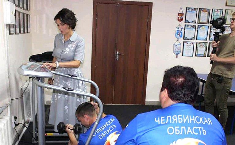 Маргарита Павлова вовремя работы врегионе посетила спортивно-реабилитационный клуб для инвалидов «Феликс» впоселке Увельском