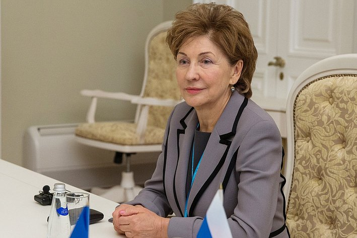 Г. Карелова на двусторонней встрече с представителями Молдавии
