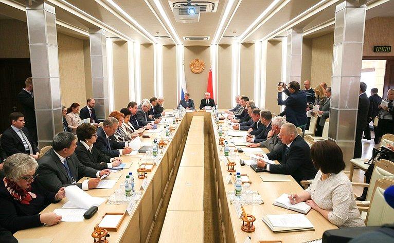 Проходит третье заседание Межпарламентской комиссии Совета Республики Национального собрания РБ иСовета Федерации помежрегиональному сотрудничеству