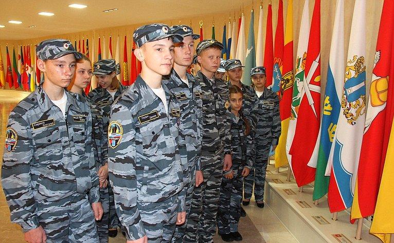 Представители движения «Юный друг полиции» изСаратовской области посетили Совет Федерации