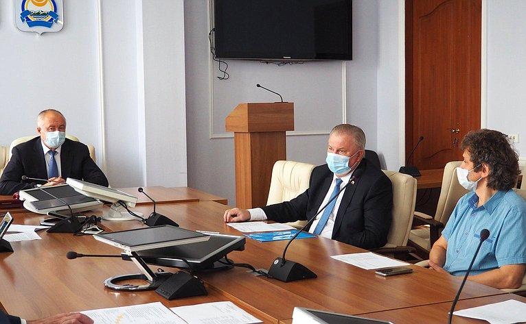 Вячеслав Наговицын принял участие всовещании натему надежного теплоэнергообеспечения региона иего столицы— Улан-Удэ