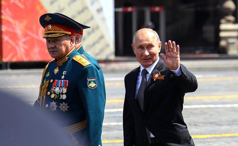 Владимир Путин иСергей Шойгу