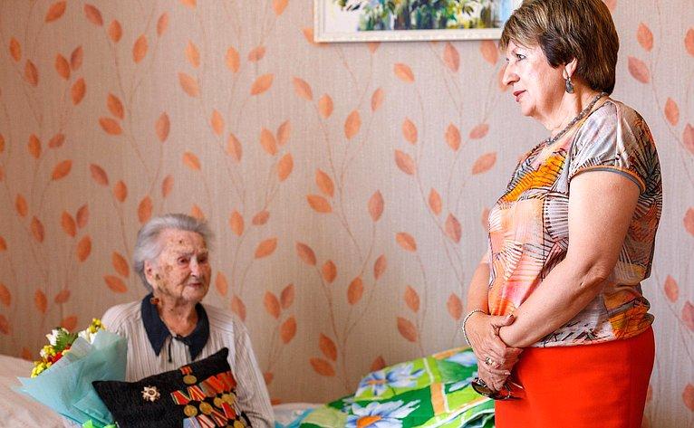 Екатерина Алтабаева поздравила ветеранов партизанского движения