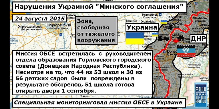 Нарушение Украиной