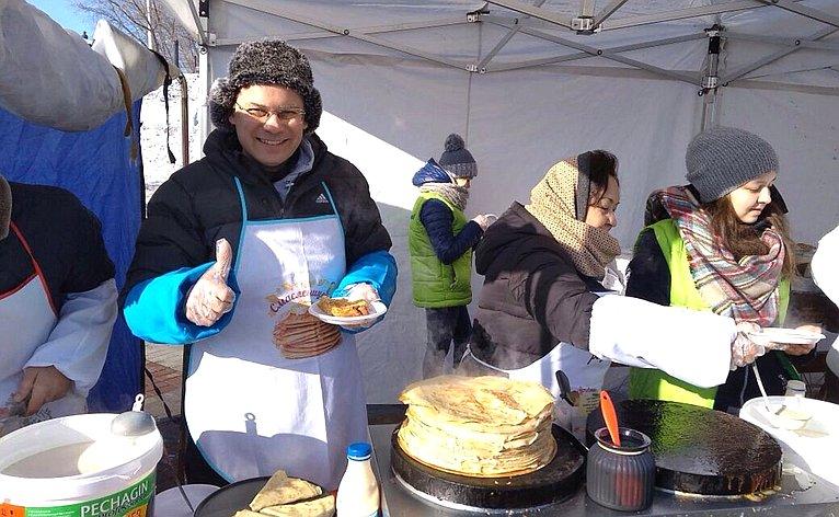 Лилия Гумерова приняла участие вежегодной благотворительной акции «Солнечный блин»