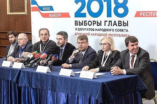 Сергей Цеков навыборах вДНР