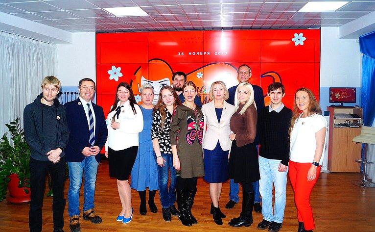 Ирина Гехт встретилась сорганизаторами иучастниками акции «Спасибо, мама!»
