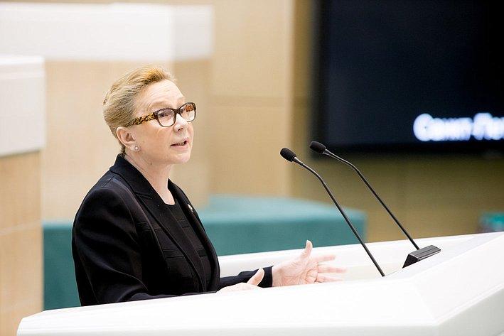 Л. Косткина 371-е заседание Совета Федерации