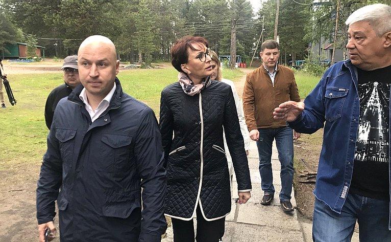 Татьяна Кусайко посетила Мурманский областной загородный стационарный оздоровительно-образовательный центр «Гандвиг»