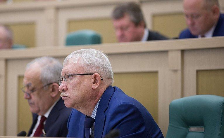 О. Морозов на386-м заседании Совета Федерации