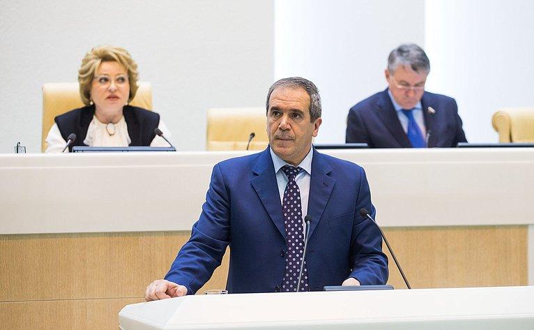 З. Сабсаби на386-м заседании Совета Федерации