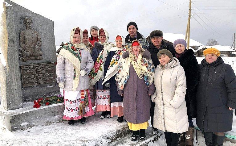 Валерий Марков посетил деревню Турья Княжпогостского района Республики, малую родину выдающегося социолога Питирима Сорокина