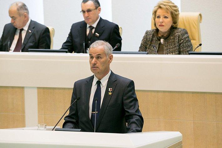 Соломонов на385-м заседании Совета Федерации