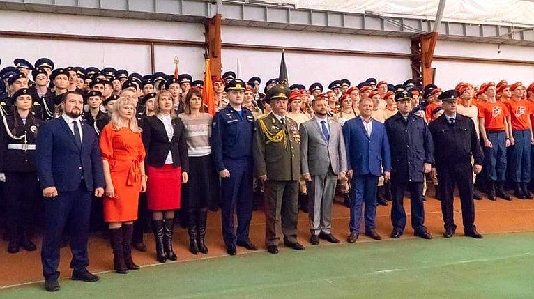 А. Кондратьев принял участие вакции «Единый день Юнармии вмоногородах»