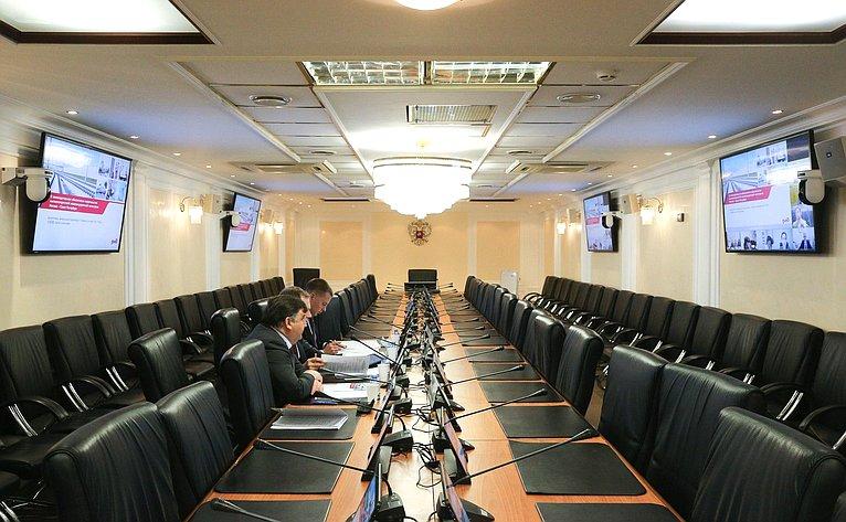 Совещание Комитета СФ поэкономической политике натему «Озаконодательном обеспечении строительства высокоскоростной железнодорожной магистрали Москва– Санкт-Петербург»