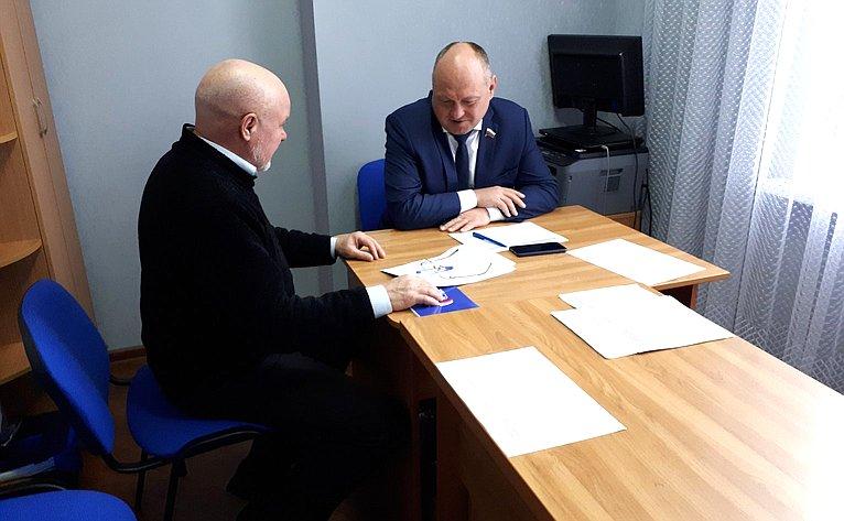 Алексей Кондратенко провёл приём граждан врегионе