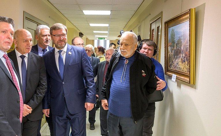 Открытие выставки репродукций картин русских художников, посвященной 140-летию окончания Русско-турецкой освободительной войны 1877–1878годов