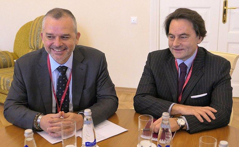 Встреча Н. Федорова сделегацией Монако
