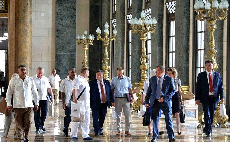 Российская делегация наКубе