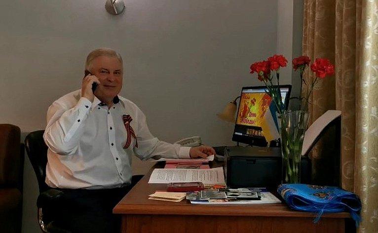 Вячеслав Наговицын провел потелефону личный прием ветеранов Великой Отечественной войны