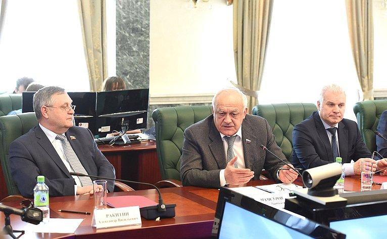Совместное заседание Комитета СФ помеждународным делам иКомитета СФ пообороне ибезопасности
