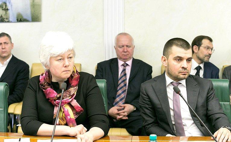 О. Тимофеева иС. Мамедов заседании Комитета поддержки жителей Юго-Востока Украины