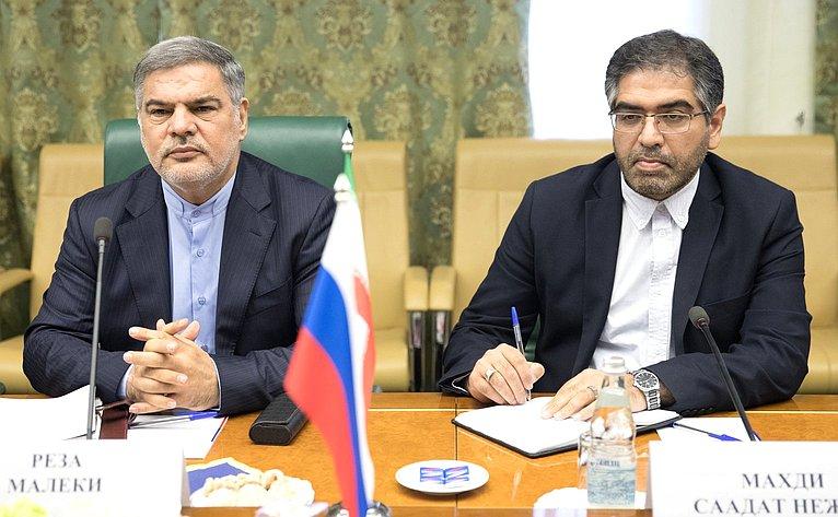 Встреча И. Морозова сруководителем Культурного представительства Ирана при Посольстве Исламской Республики Иран вРФ Резой Малеки