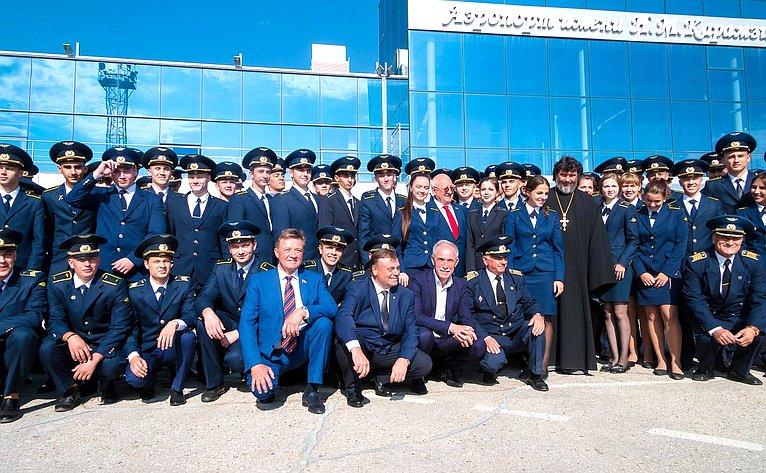 Наоткрытии после реконструкции международного аэропорта имени Н.М. Карамзина