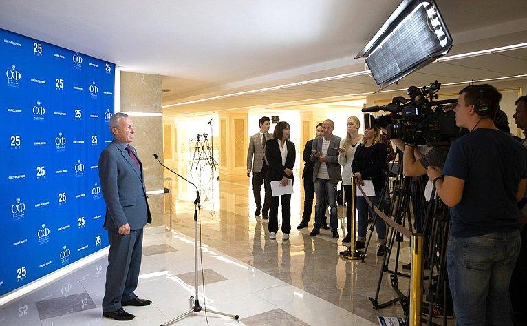 Брифинг Андрея Климова