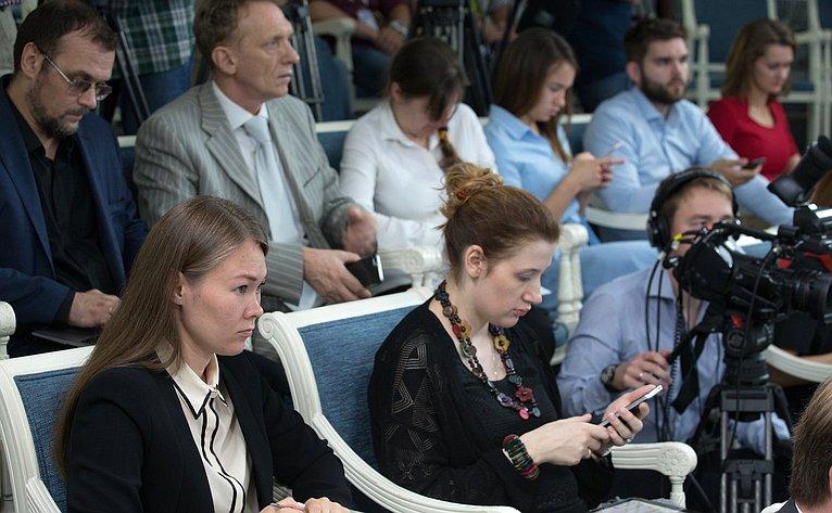Итоговая пресс-конференция Председателя СФ В. Матвиенко