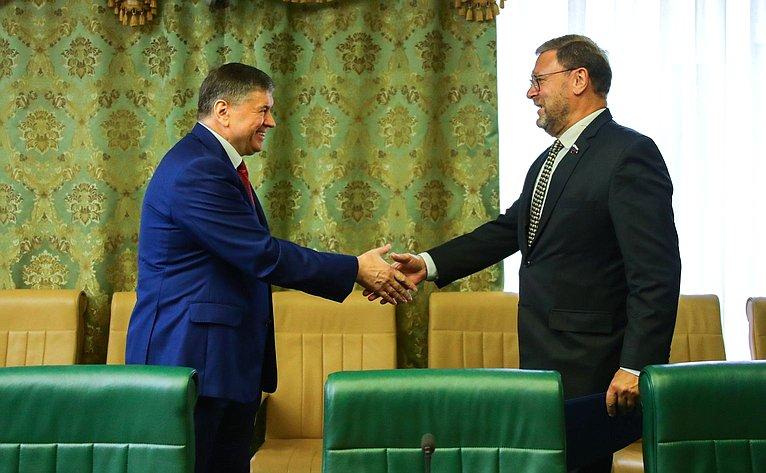 Встреча Константина Косачева счрезвычайным иполномочным послом Республики Молдова вРФ