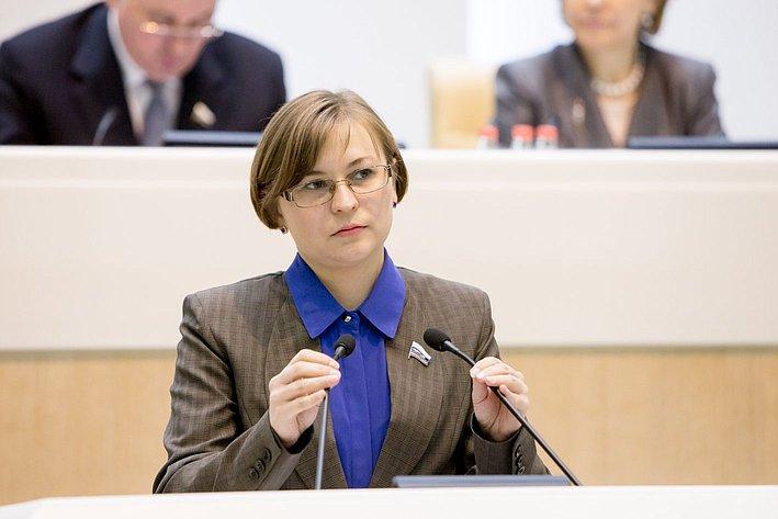 Л. Бокова 371-е заседание Совета Федерации
