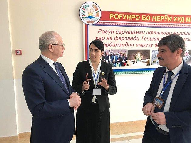 Рабочий визит делегации СФ вТаджикистан