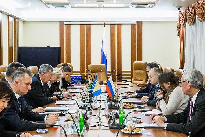Встреча И. Умаханова с делегацией Босния и Герцеговина