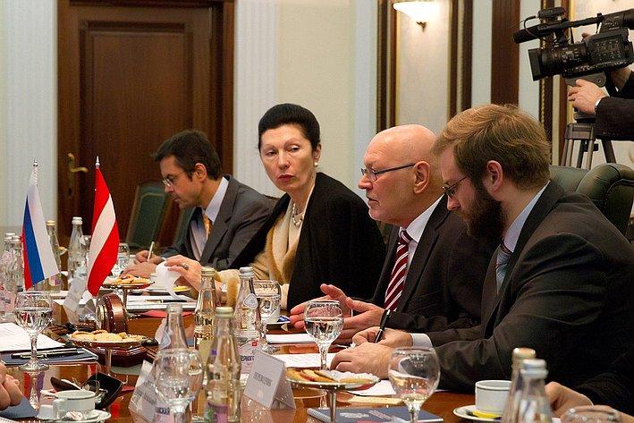 Встреча Председателя Совета Федерации Валентины Матвиенко с Президентом Федерального совета Австрийской Республики Райнхардом Тодтом