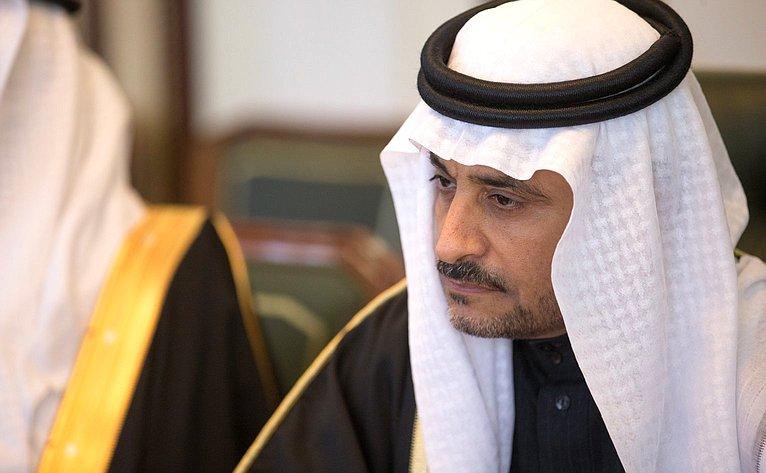 Встреча В. Матвиенко сзаместителем Председателя Консультативного совета Королевства Саудовская Аравия Яхъей Абдуллой Ас-Самааном